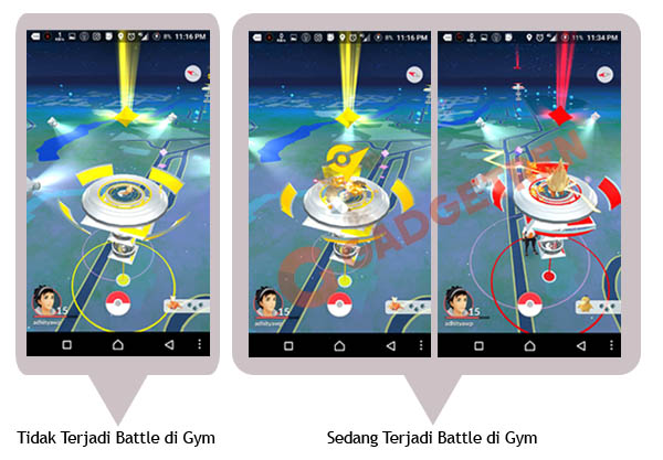 Battle Gym Pokemon GO Gadgetren