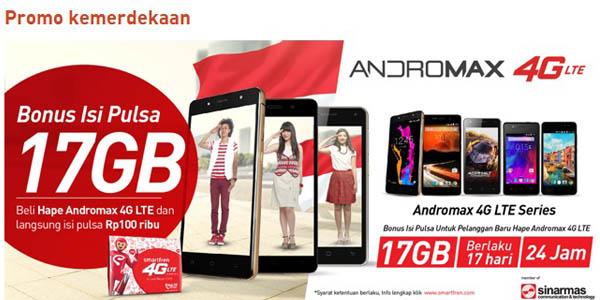 Promo Kemerdekaan bonus 17 GB Smartfren