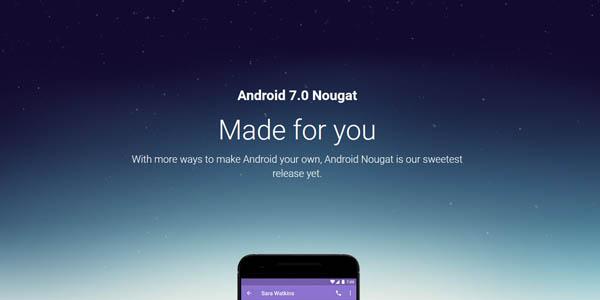 Smartphone Pertama Android Nougat 7