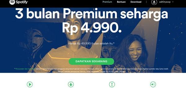 Cara Berlangganan Spotify Premium 3 Bulan Cuma Rp 5 Ribu Dengan Potong Pulsa Gadgetren