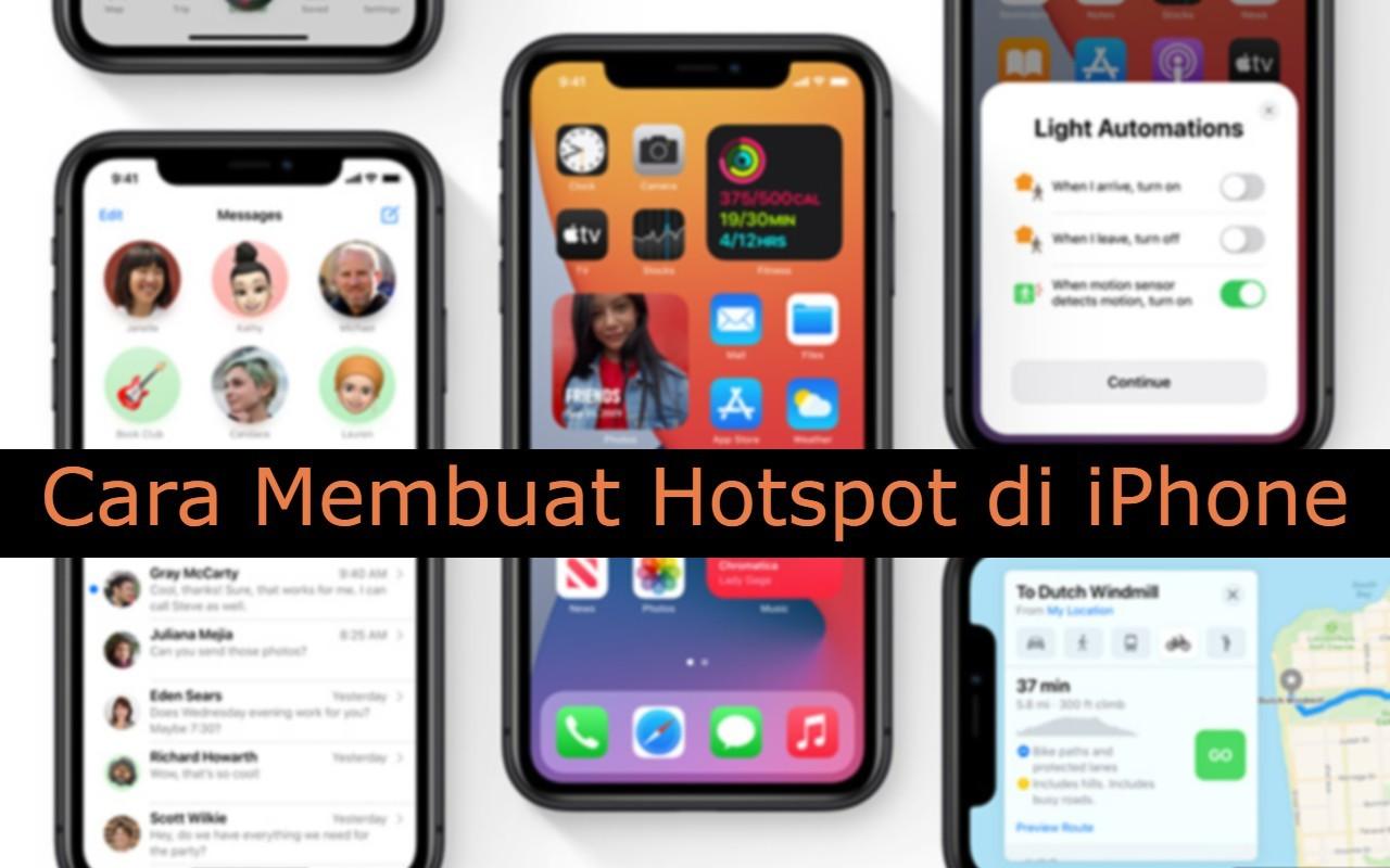 Cara Membuat Hotspot di iPhone