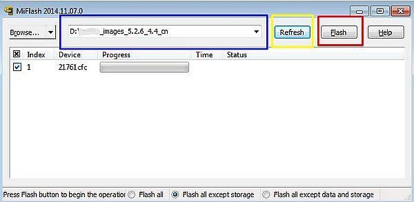 cara mengembalikan MIUI 8 ke MIUI 7 MiFlash Tool