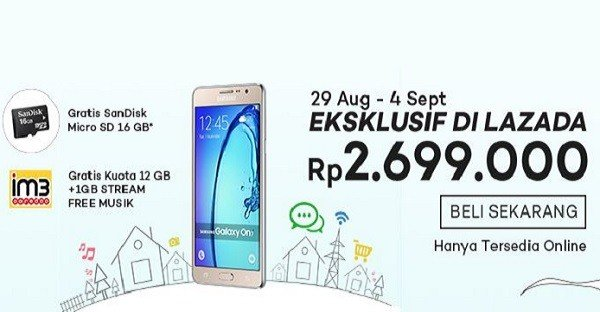 SAmsung Galaxy On7 2016 Lazada-header