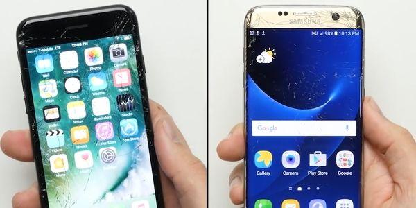 iPhone 7 vs Galaxy S7 Edge Facedrop