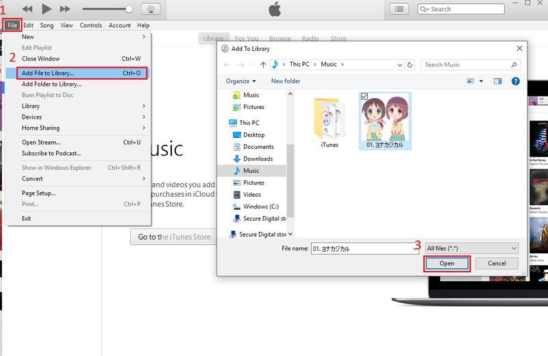 iTunes Music Add to Library