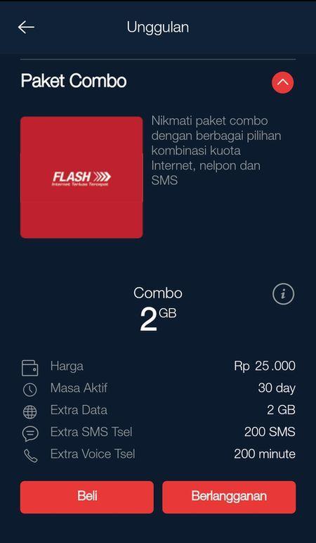Pilihat Paket Murah Telkomsel Combo 2GB 2017 MyTelkomsel