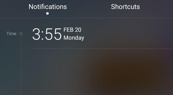Huawei P9 Notifikasi