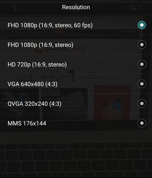 Huawei P9 Resolution 60fps