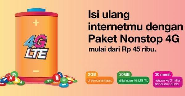 Paket Internet Tri Nonstop 4G Header