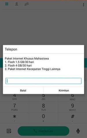 Menu Paket Kampus Mahasiswa Telkomsel Internet