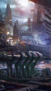 iOS iPhone Wallpaper City Illustration