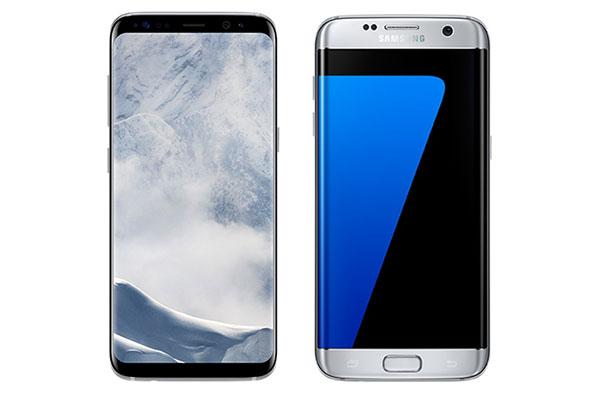 Perbedaan Samsung Galaxy S8 dan Tampilan S7 Edge Tampilan