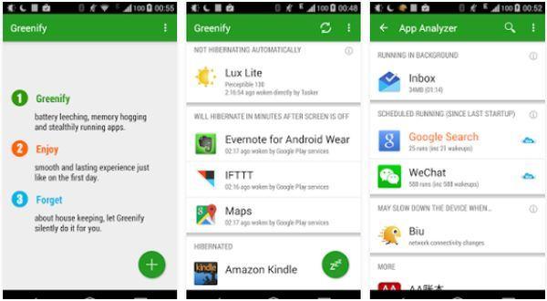 Cara Menghemat Baterai Android Tampilan Greenify