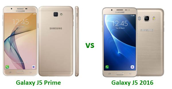 Samsung Galaxy J5 2016 vs J5 Prime Header