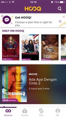 HOOQ Aplikasi Pilihan