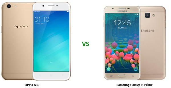 OPPO A39 vs Samsung Galaxy J5 Prime Header