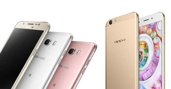 Samsung Galaxy J7 (2016) vs OPPO F1s Headeer