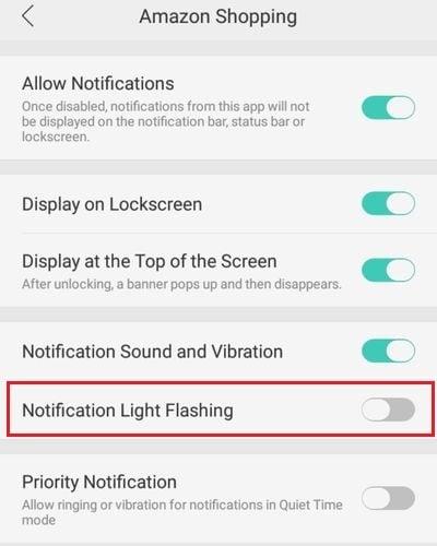 Oppo Light Flashing