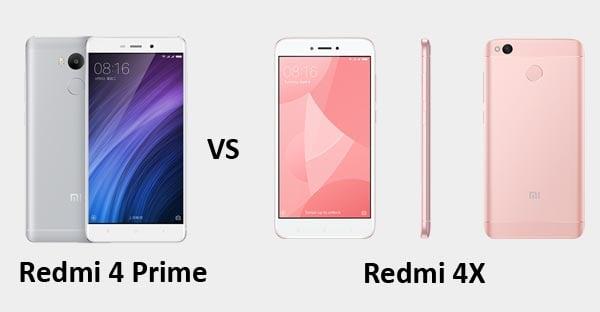 Xiaomi Redmi 4 Prime vs Xiaomi Redmi 4X Header