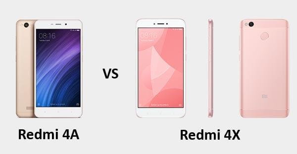 Xiaomi Redmi 4A vs Xiaomi Redmi 4X Header