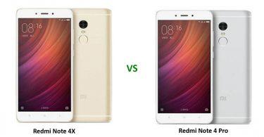Redmi Note 4X vs Note 4 Pro Feature