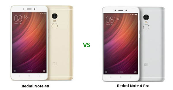 Redmi Note 4X vs Redmi Note 4 Pro Header
