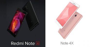 Xiaomi Redmi Note 4 vs Xiaomi Redmi Note 4X Featured