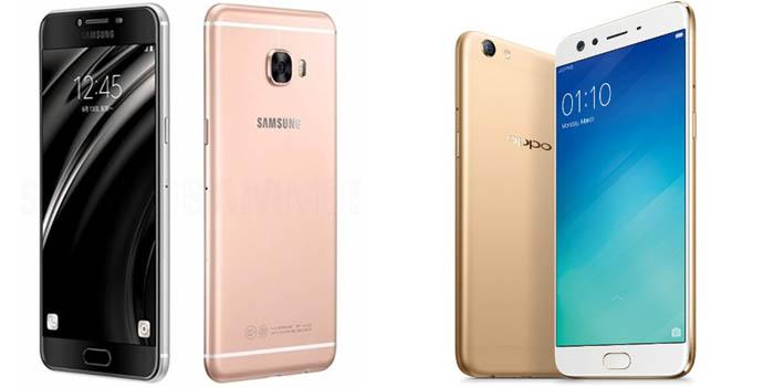 Samsung Galaxy C9 Pro vs OPPO F3 Plus Header