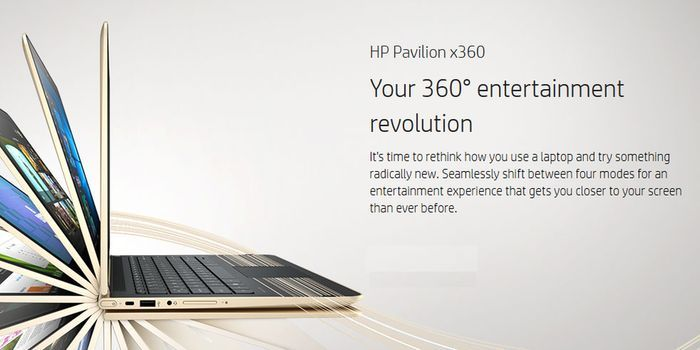 HP Pavilion x360 Header
