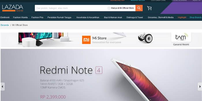 Lazada Xiaomi Resmi Header