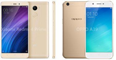 OPPO A39 vs Xiaomi Redmi 4 Prime Feature