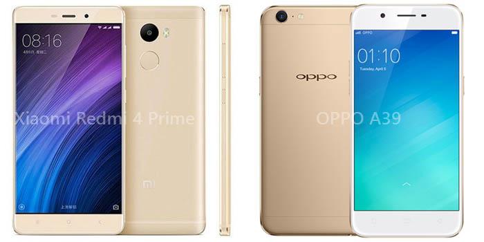 OPPO A39 vs Xiaomi Redmi 4 Prime Header