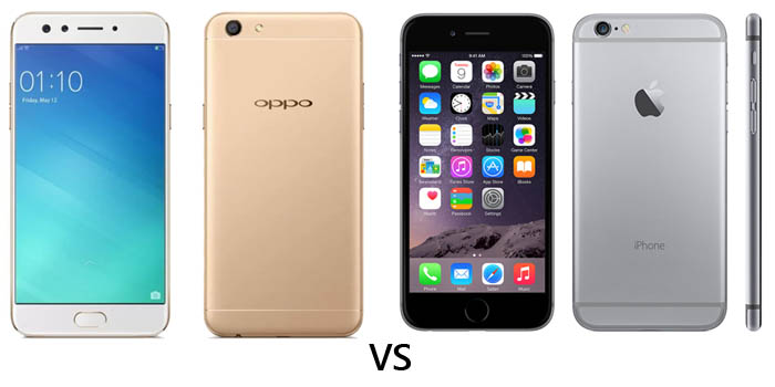 OPPO F3 vs iPhone 6 Header
