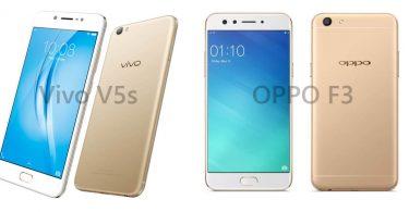 Vivo V5s vs OPPO F3 Feature