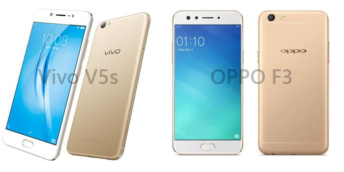 Vivo V5s vs OPPO F3 Header