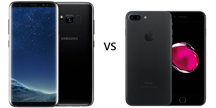 Samsung Galaxy S8 vs iPhone 7 Header