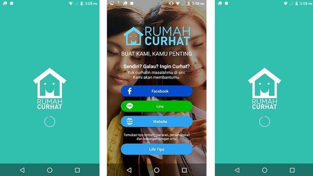 Aplikasi Rumah Curhat Indonesia