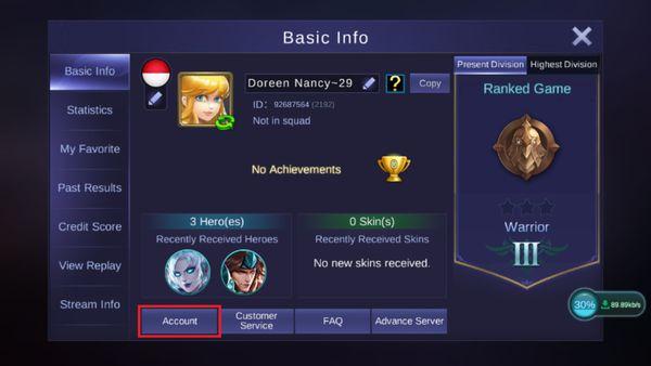 Cara Bind Akun Mobile Legend Info
