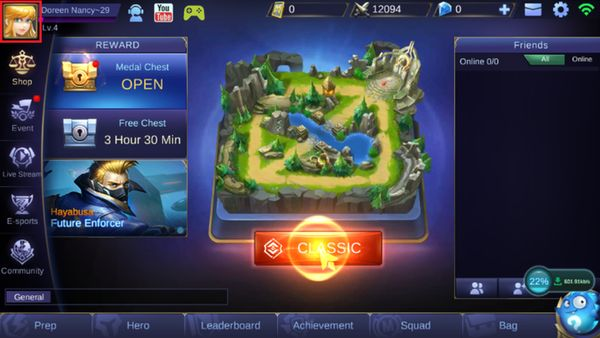Cara Bind Akun Mobile Legend Menu