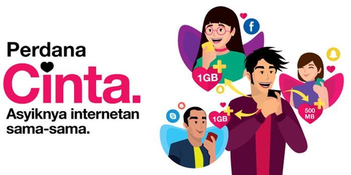 Perdana Kuota Cinta Tri Header