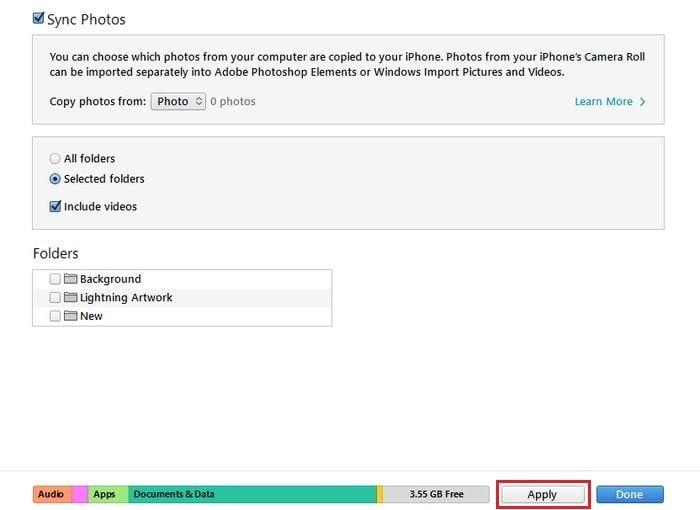 iTunes Foto Laptop ke iPhone Applys