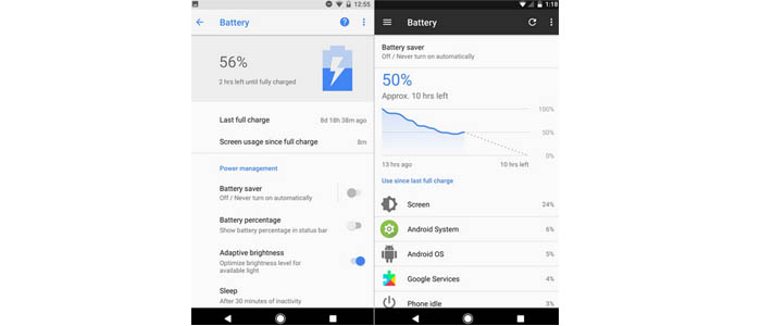 Android Oreo Battery