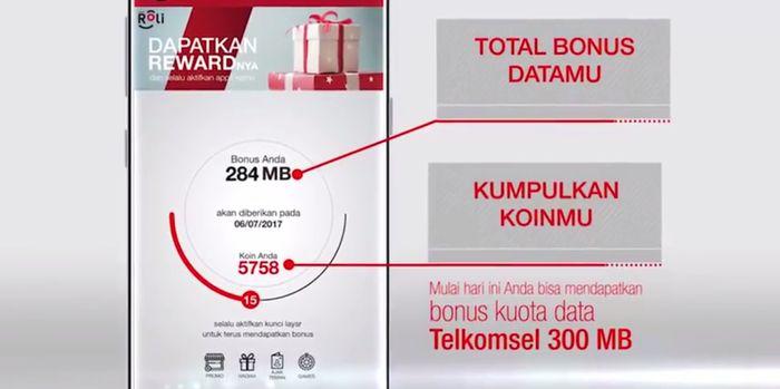 ROLi Telkomsel Bonus 300MB