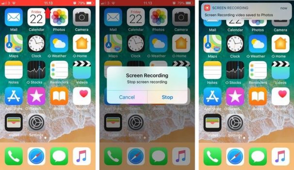 Screen Recording iOS 11 Stop