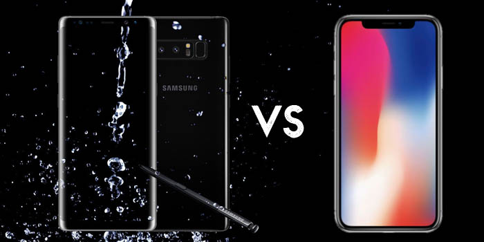 iPhone X vs Galaxy Note 8 Header