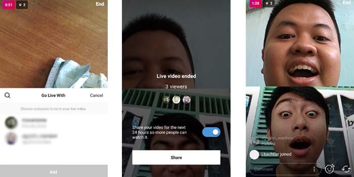 Hasil Live Instagram Berdua Sama Teman