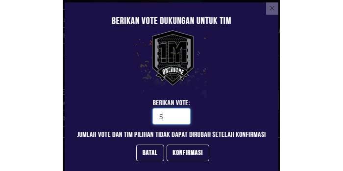 Berikan Team Vote