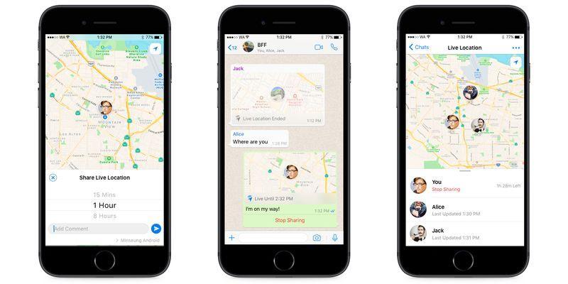 WhatsApp Live Tracking Aplikasi
