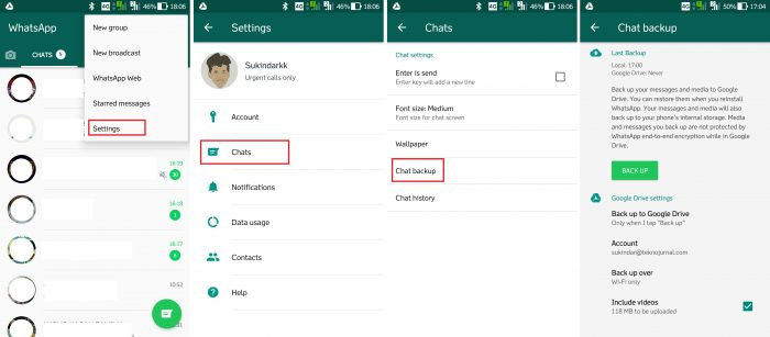 Cara Membuat Backup WhatsApp di Google