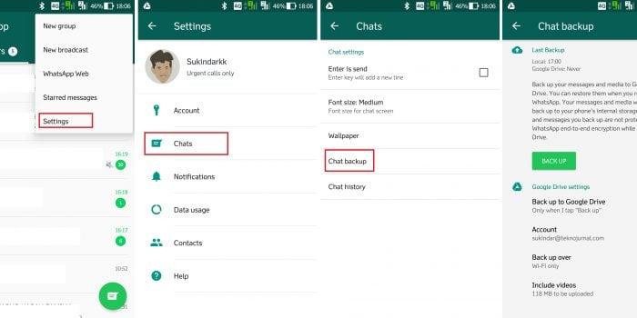 Fitur Rahasia WhatsApp - Backup Google Drive